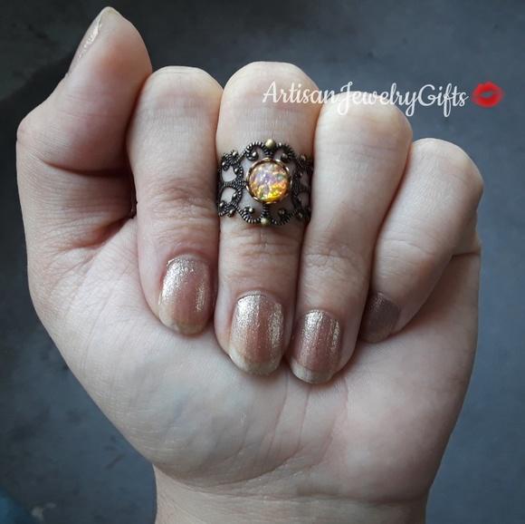 3776f14a5 Handmade ArtisanJewelryGifts Jewelry | Antique Fire Opal Filigree ...